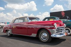 1950 Chrysler New Yorker Automobile. CONCORD, NC USA - September 7, 2018: A 1950 Chrysler New Yorker automobile on display at the Pennzoil AutoFair classic car stock photos