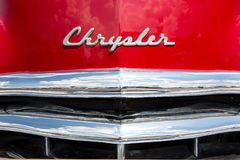 1950 Chrysler New Yorker Automobile. CONCORD, NC USA - September 7, 2018: Closeup of a 1950 Chrysler New Yorker automobile on display at the Pennzoil AutoFair stock photo