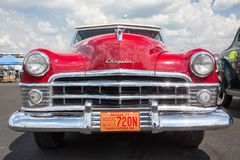 1950 Chrysler New Yorker. CONCORD, NC USA - September 7, 2018: A 1950 Chrysler New Yorker automobile on display at the Pennzoil AutoFair classic car show held at royalty free stock image