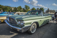 1960 Chrysler New Yorker 2 Door Convertible. Every Wednesday during the months of May to August there is a veteran car meeting with American cars at the fish Royalty Free Stock Photography