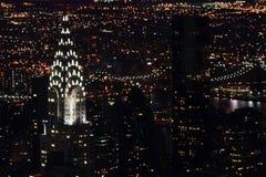 Chrysler-Noite foto de stock royalty free