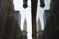 Chrysler que construye la reflexión Fotos de archivo