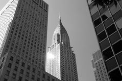 Chrysler que construye New York City Fotografía de archivo