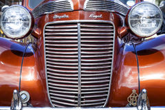 Chrysler Royal. Leek, Staffordshire, England, U.K - April 19 2014 Front View of Chrysler Royal classic car. Close up Stock Photography