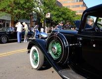 Chrysler six à l'exposition de véhicule de sculpture en roulement Photo libre de droits