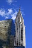 Chrysler som bygger i New York CityThe Chrysler som in bygger Arkivfoton