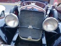 1930 Chrysler 66 vier die deuren in Lima, Peru worden tentoongesteld Stock Afbeelding