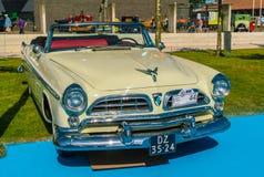 Chrysler Windsor de Luxe Oldtimer bij de jaarlijkse nationale oldtimerdag in Lelystad Stock Fotografie