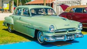 Chrysler Windsor de Luxe Oldtimer bij de jaarlijkse nationale oldtimerdag in Lelystad Royalty-vrije Stock Fotografie