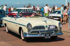 Chrysler Windsor de Luxe Oldtimer bij de jaarlijkse nationale oldtimerdag in Lelystad Stock Foto's
