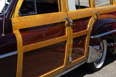 1950 Chrysler woody. The drivers side of a 1950 Chrysler woody stock photography