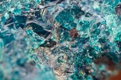 Chrysocolla è un cyclosilicate di rame idratato Fotografia Stock Libera da Diritti