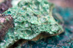 Chrysocolla is a hydrated copper cyclosilicate Stock Photography