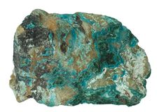 Chrysocolla mineral isolated Royalty Free Stock Photography