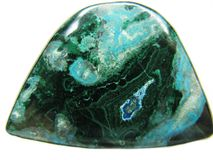 Chrysocolla semigem mineral crystal Stock Photos