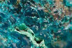 Chrysocolla é um cyclosilicate de cobre hidratado Imagens de Stock