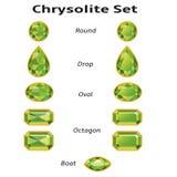 Chrysolite που τίθεται με το κείμενο ελεύθερη απεικόνιση δικαιώματος