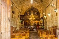 Chrysopolitissa kyrka av det fjärde århundradet i Paphos, Cypern Fotografering för Bildbyråer