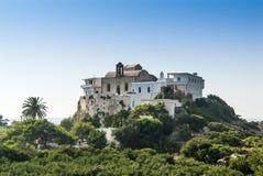 Chrysoskalitissa monastery Crete Stock Photo