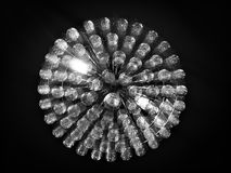 Chrystal ceiling light. Sparkling ceiling light Stock Image