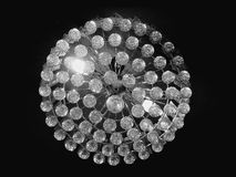 Chrystal ceiling light. Sparkling ceiling light Royalty Free Stock Image