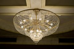 Chrystal chandelier close-up with copy space Stock Images