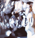 Chrystal chandelier close-up Royalty Free Stock Image