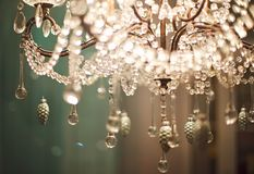Chrystal chandelier close up royalty free stock images
