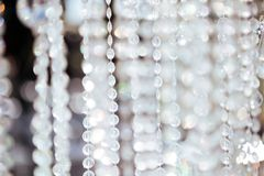 Chrystal chandelier close-up. stock image