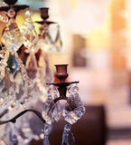 Chrystal chandelier close-up Stock Images
