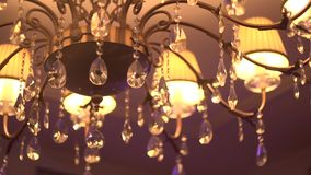 Chrystal chandelier stock video footage