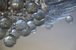 Chrystal chandelier. Close-up. Glamour background with copy space Stock Photo