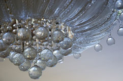 Chrystal chandelier. Close-up. Glamour background with copy space Royalty Free Stock Images