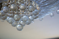 Chrystal chandelier. Close-up. Glamour background with copy space Stock Photos