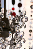 Chrystal chandelier flower shape black and white Royalty Free Stock Photo