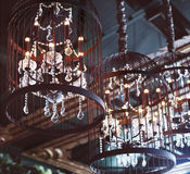 Chrystal chandeliers close-up Royalty Free Stock Images