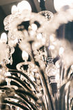 Chrystal Leuchter stockfotografie