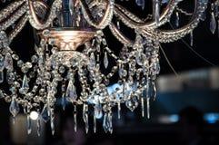 Chrystal świecznika close-up Fotografia Stock