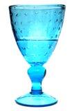 Chrystalglas met champagne of water op wit wordt geïsoleerd dat Royalty-vrije Stock Fotografie