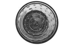 Chrystalglas met champagne of water op wit wordt geïsoleerd dat Stock Afbeeldingen
