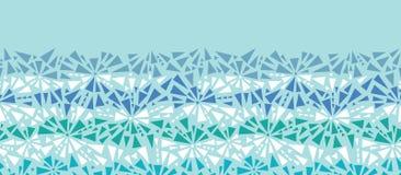抽象冰chrystals纹理水平无缝 免版税库存照片