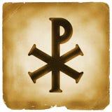 chryste monograma stary papier symbol Fotografia Royalty Free