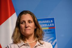 Chrystia Freeland, министр иностранных дел Канады стоковые фотографии rf