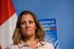 Chrystia Freeland, minister av utländskt - angelägenheter av Kanada royaltyfria foton