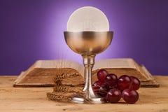 Chrystian święty communion obrazy stock