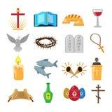 Chrystianizm ikony ustawiać Zdjęcie Royalty Free