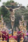 Chrystus bractwo San Bernardo, Święty tydzień w Seville Obraz Royalty Free
