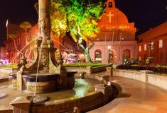 Chrystus kościół i Holenderski kwadrat, Malacca Zdjęcia Stock