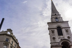Chrystus kościół Spitalfields Zdjęcie Royalty Free