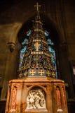 Chrystus kościół Z świętego Mary chrzcielnicą obraz stock